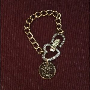 JUICY COUTURE GOLD CRYSTAL HEART NECKLACE, NWOT